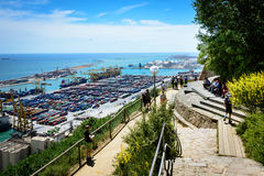 View from Montjuic, Barcelona Royalty Free Stock Image