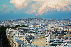 View on Montmarte and Sacre-Coeur Basilica, Paris, France Stock Photos