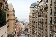 View from montmartre hill. View of Paris streets from Montmartre hill in spring Stock Photography