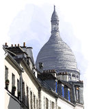View of Montmartre in Paris Royalty Free Stock Image
