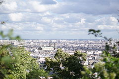 The view from Montmartre Royalty Free Stock Photos