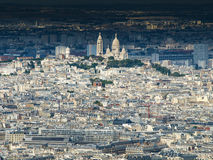 View of Montmartre and Sacre Coeur Royalty Free Stock Images