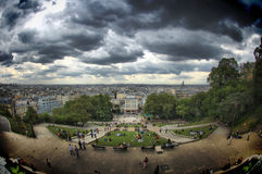 View from Montmartre on a stormy day Royalty Free Stock Image