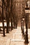 View of Montmatre, Vintage Look Stock Photo