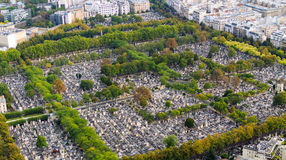 View on Montparnasse Cemetery Stock Image