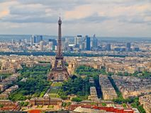 View from Montparnasse tower to the Paris city Royalty Free Stock Photo