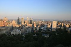 Sunset Montreal City Royalty Free Stock Photos