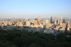 Sunset Montreal City Royalty Free Stock Image