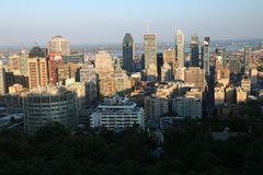 Sunset Montreal City Stock Photo