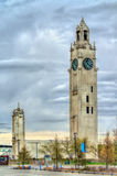 View of Montreal Clock Tower in the Old Port - Canada Stock Image
