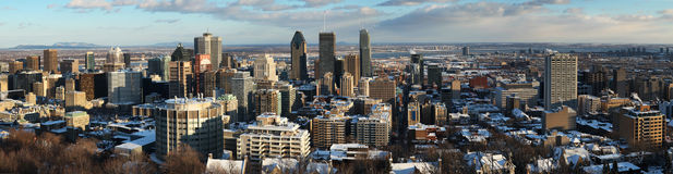 View of Montreal downtown Stock Photos