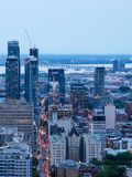 View of Montreal downtown at sunset, Quebec, Canada stock photography