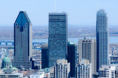 View of Montreal Skyscrapers Stock Image