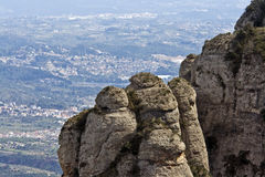 View from Montserrat Royalty Free Stock Image