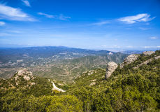 View from Montserrat, Catalonia, Spain. Royalty Free Stock Photography