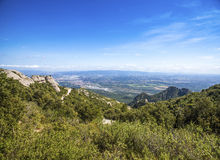 View from Montserrat, Catalonia, Spain. Royalty Free Stock Photo