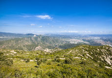 View from Montserrat, Catalonia, Spain. Royalty Free Stock Image
