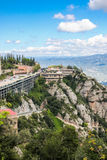 View of Montserrat Monastery and Mountain royalty free stock photography