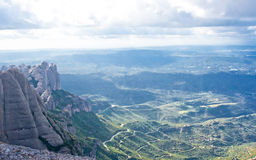 The view from Montserrat mountain Stock Image