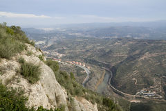 View from Montserrat Mountain Royalty Free Stock Photos
