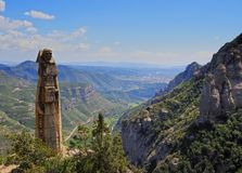 View from Montserrat Mountain, Spain Stock Photography