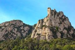 View of Montserrat mountains, Catalonia, Spain. Stock Photos