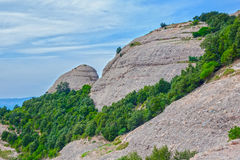 View of Montserrat mountains, Catalonia, Spain. Royalty Free Stock Photography