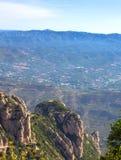 View of Montserrat mountains, Catalonia, Spain. Royalty Free Stock Photo