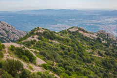 View of Montserrat mountains, Catalonia, Spain. Stock Photography
