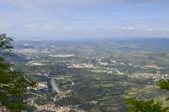 A View from Montserrat stock photo