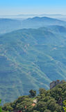 View of Montserratt mountains, Catalonia, Spain. Royalty Free Stock Photo