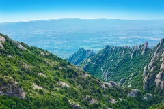 View of Montserratt mountains, Catalonia, Spain. Royalty Free Stock Images