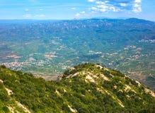 View of Montserratt mountains, Catalonia, Spain. Stock Image