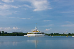 View of monument in lake  , Suanluang Rama 9 Royalty Free Stock Photography