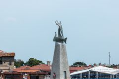 View of monument to St. Nicholas. Stock Photos