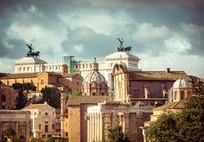 View of the monument to Vittorio Emanuele Stock Photography