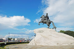 View of monument of Tsar Peter the first (The Bronze Horseman) Royalty Free Stock Image