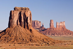 View of monument valley. View of sandstone formation in Monument Valley Royalty Free Stock Photos