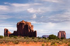 View of Monument Valley Royalty Free Stock Photo