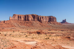 View of Monument Valley in Navajo Nation Reservation between Utah and Arizona Royalty Free Stock Photo
