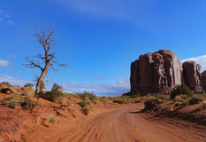View of Monument Valley, USA Royalty Free Stock Photography
