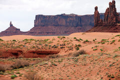 View of Monument valley, Utah Stock Photography