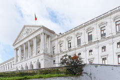 View of the monumental Portuguese Parliament (Sao Bento Palace), Stock Photo