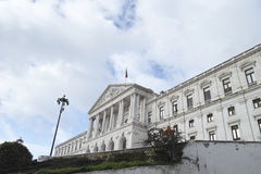 View of the monumental Portuguese Parliament Sao Bento Palace, Stock Photo