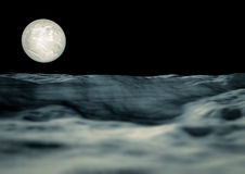 View of the moon. Rendering of the moon view from an asteroid Royalty Free Stock Photography