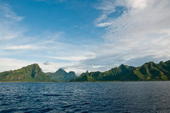 View on Moorea Island in French Polynesia Stock Photography