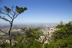 View of the Moors Castle in Sintra Royalty Free Stock Photo