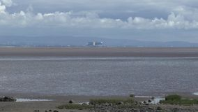 View of Morecambe Bay stock footage