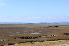 View Morecambe Bay towards Grange from Hest Bank Royalty Free Stock Photos