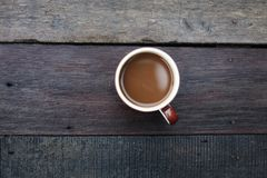 The view of the morning coffee is hot. royalty free stock image